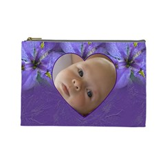 Iris Large Cosmetic Case 1 By Joan T   Cosmetic Bag (large)   5syttwv52um1   Www Artscow Com Front
