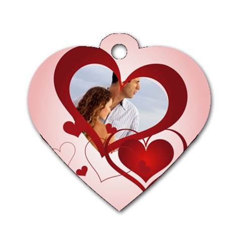 Lover By Wood Johnson   Dog Tag Heart (one Side)   2shbkbxaeajb   Www Artscow Com Front