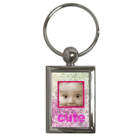 Cute Pinks Floral Keychain By Catvinnat   Key Chain (rectangle)   3uv74kkeex8h   Www Artscow Com Front