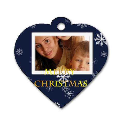 Christmas By Wood Johnson   Dog Tag Heart (one Side)   Bexo9zs0rh2g   Www Artscow Com Front
