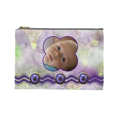 Iris Large Cosmetic Case 3 By Joan T   Cosmetic Bag (large)   Jkapm1icn7k3   Www Artscow Com Front