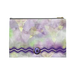 Iris Large Cosmetic Case 3 By Joan T   Cosmetic Bag (large)   Jkapm1icn7k3   Www Artscow Com Back