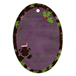 Holiday Rush Gingerbread Man - Ornament (Oval)
