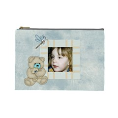 Little Boys Large Cosmetic Case 1 By Joan T   Cosmetic Bag (large)   W04gvbyuu43l   Www Artscow Com Front