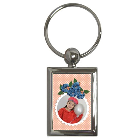 Key Chain (rectangle)    Flowers5 By Jennyl   Key Chain (rectangle)   85s1rca5g18a   Www Artscow Com Front