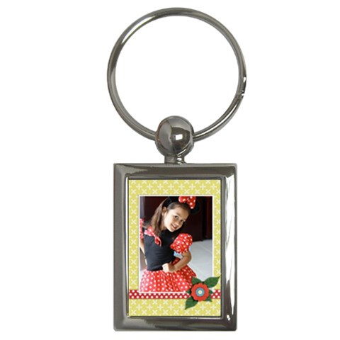 Key Chain (rectangle)    Flowers6 By Jennyl   Key Chain (rectangle)   F793d0nts9e1   Www Artscow Com Front
