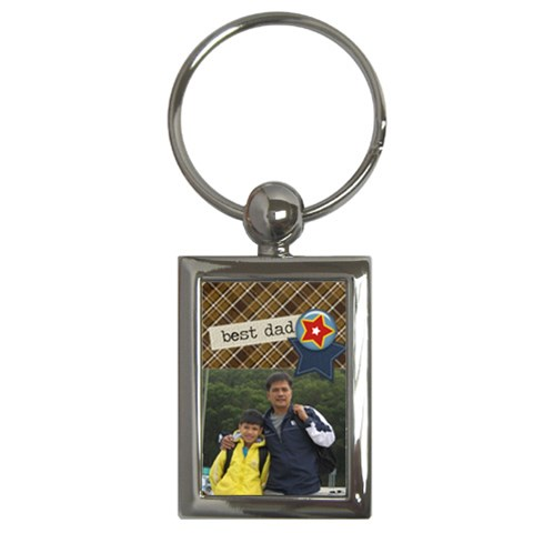 Key Chain (rectangle)    Best Dad By Jennyl   Key Chain (rectangle)   Clzn9qy7oc3v   Www Artscow Com Front