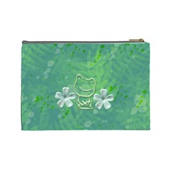 Frog Salad Large Cosmetic Case By Joan T   Cosmetic Bag (large)   Wnqu7i1i1872   Www Artscow Com Back