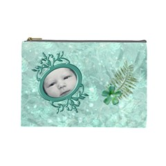 Frog Salad Large Cosmetic Case 2 By Joan T   Cosmetic Bag (large)   Mnap3gphdvv9   Www Artscow Com Front