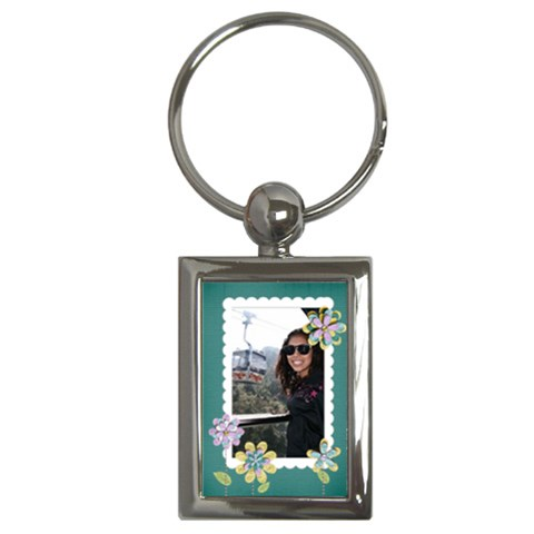 Key Chain (rectangle)   Flowers10 By Jennyl   Key Chain (rectangle)   Nm99bppl8eel   Www Artscow Com Front