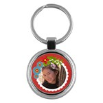 Key Chain (Round)  - Flowers3