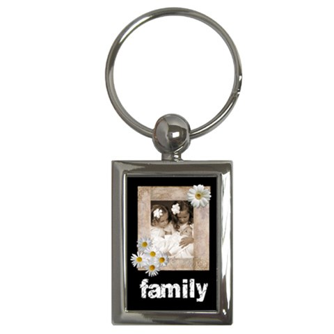 Daisy Family Keychain By Catvinnat   Key Chain (rectangle)   Qs28jlueh8ne   Www Artscow Com Front