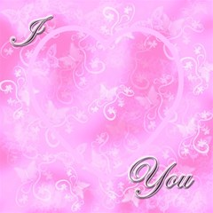 I Heart You Baby Pink Magic Cube By Ellan   Magic Photo Cube   Ysomfk4nw4nm   Www Artscow Com Side 1
