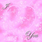 I heart you baby pink magic cube - Magic Photo Cube