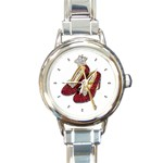 WIZARD OF OZ RUBY SLIPPERS ROUND ITALIAN CHARM WATCH