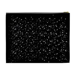 Black And Silver Glitter Cosmetic Purse (xl) By Jen   Cosmetic Bag (xl)   Knc29d74si8d   Www Artscow Com Back
