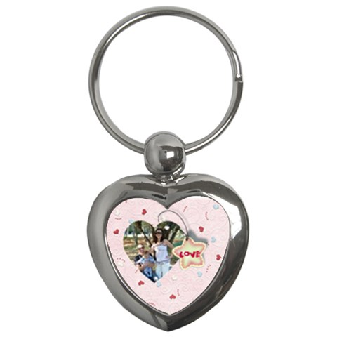 Love   Pink By Daniela   Key Chain (heart)   Lvrp9roh5o6z   Www Artscow Com Front