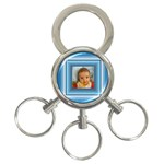 Blue key chain - 3-Ring Key Chain