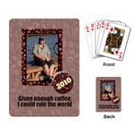 coffee cards - Playing Cards Single Design