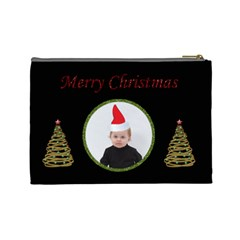 Merry Christmas Cosmetic Bag (l) By Jen   Cosmetic Bag (large)   7d6rrywb94it   Www Artscow Com Back
