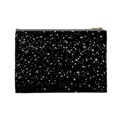 Black and Silver Glitter Cosmetics Purse (L) by Jen Back