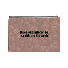Coffee Cosmetic Bag By Patricia W   Cosmetic Bag (large)   Q28fh9b7f3yp   Www Artscow Com Back