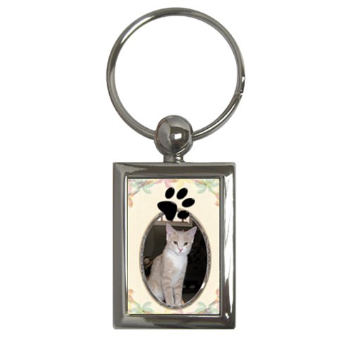 Cat Paw Print Key Chain By Lil    Key Chain (rectangle)   Oa3ocnhs7z8v   Www Artscow Com Front