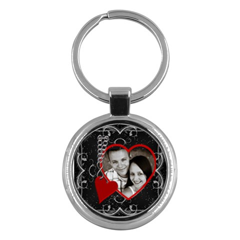 Love Heart Round Key Chain By Lil    Key Chain (round)   2o00o93srx9p   Www Artscow Com Front