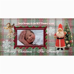 Santa Brought Us The Best Present In 2010 8x4 Photo Card By Ellan   4  X 8  Photo Cards   V9c23ra3bco5   Www Artscow Com 8 x4 Photo Card - 4