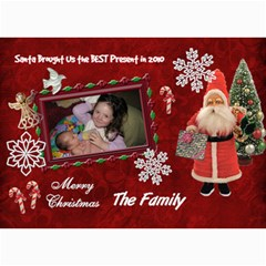 Santa Brought Us The Best Present In 2010 5x7 Photo Christmas Card By Ellan   5  X 7  Photo Cards   338v3y7lgho7   Www Artscow Com 7 x5 Photo Card - 1
