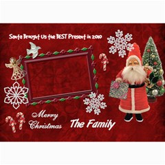 Santa Brought Us The Best Present In 2010 5x7 Photo Christmas Card By Ellan   5  X 7  Photo Cards   338v3y7lgho7   Www Artscow Com 7 x5 Photo Card - 5