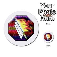 Fate Points By Peter Cobcroft   Multi Purpose Cards (round)   E9dltvytuecl   Www Artscow Com Back 13