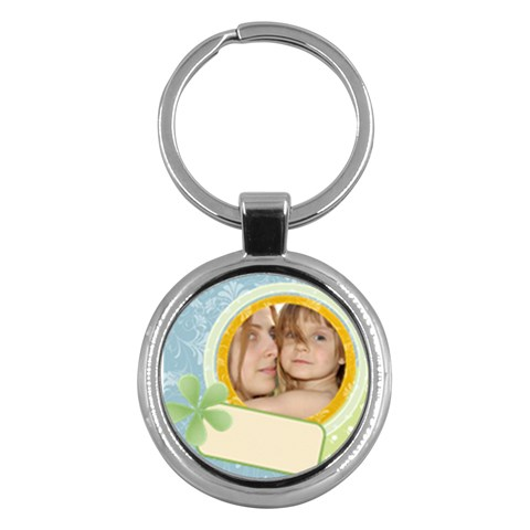 Kids By Wood Johnson   Key Chain (round)   5uy8ispblazr   Www Artscow Com Front