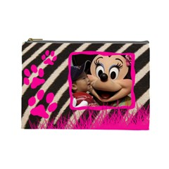 Zebra   Cosmetic Bag (large)   By Carmensita   Cosmetic Bag (large)   66wmoa77xw5h   Www Artscow Com Front