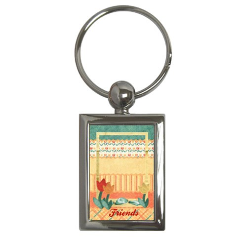 Tulips Keychain By Mikki   Key Chain (rectangle)   Jq0w4sf90665   Www Artscow Com Front
