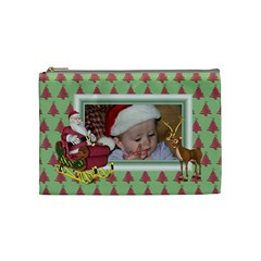 Here Comes Santa Cosmetic Bag (medium) 2 By Snackpackgu   Cosmetic Bag (medium)   Lzu2jdfoln6m   Www Artscow Com Front
