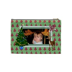 Here Comes Santa Cosmetic Bag (medium) 2 By Snackpackgu   Cosmetic Bag (medium)   Lzu2jdfoln6m   Www Artscow Com Back
