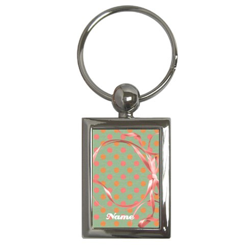 Ribbon Frame  Key Chain By Mikki   Key Chain (rectangle)   Ike2c16tcpyt   Www Artscow Com Front