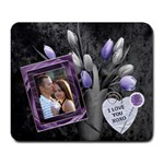 Purple Flowers Love Large Mousepad