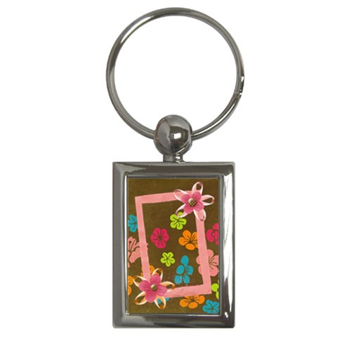 Tropical Key Chain By Mikki   Key Chain (rectangle)   Huvkkd0tgfdo   Www Artscow Com Front
