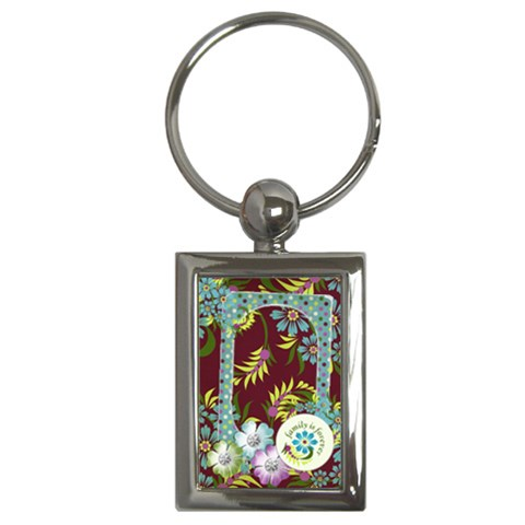 Family Is Forever Key Chain By Mikki   Key Chain (rectangle)   Sw99z5dfswey   Www Artscow Com Front