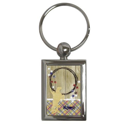 My Cowboy Key Chain By Mikki   Key Chain (rectangle)   Apsyfa6306d3   Www Artscow Com Front