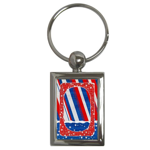 Red, White & Blue Key Chain By Mikki   Key Chain (rectangle)   Pn2pescxsxiu   Www Artscow Com Front