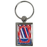 Red, White & Blue-key chain - Key Chain (Rectangle)