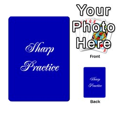 Sharp Practice Cards 1 By Jonathan Davenport   Multi Purpose Cards (rectangle)   Wu4q586a4fjw   Www Artscow Com Back 1