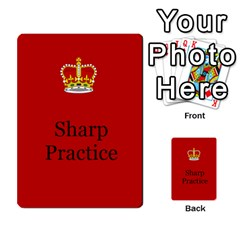 Sharp Practice Cards 1 By Jonathan Davenport   Multi Purpose Cards (rectangle)   Wu4q586a4fjw   Www Artscow Com Front 22