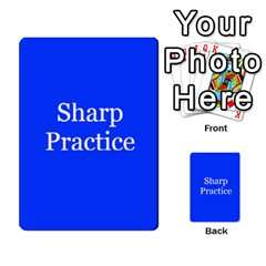 Sharp Practice Cards 1 By Jonathan Davenport   Multi Purpose Cards (rectangle)   Wu4q586a4fjw   Www Artscow Com Front 43