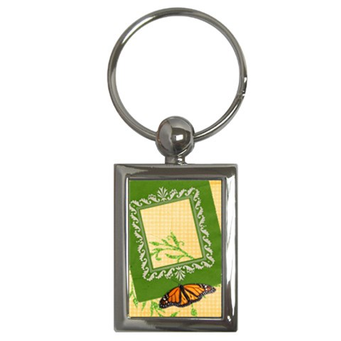 Butterfly Key Chain By Mikki   Key Chain (rectangle)   Wb5g837sps1e   Www Artscow Com Front