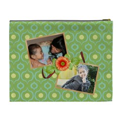 Cosmetic Bag (xl)  Orange Twist By Jennyl   Cosmetic Bag (xl)   5b6kw349xzqs   Www Artscow Com Back