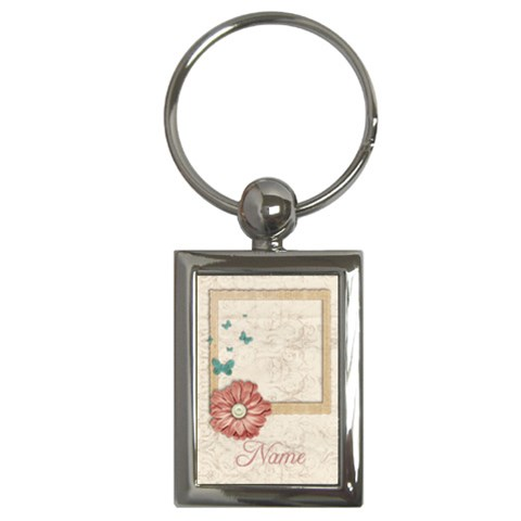 Vintage Frame  Key Chain By Mikki   Key Chain (rectangle)   G25zv25b4qew   Www Artscow Com Front
